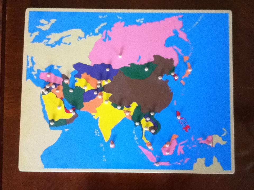 Montessori Puzzle Map of Asia